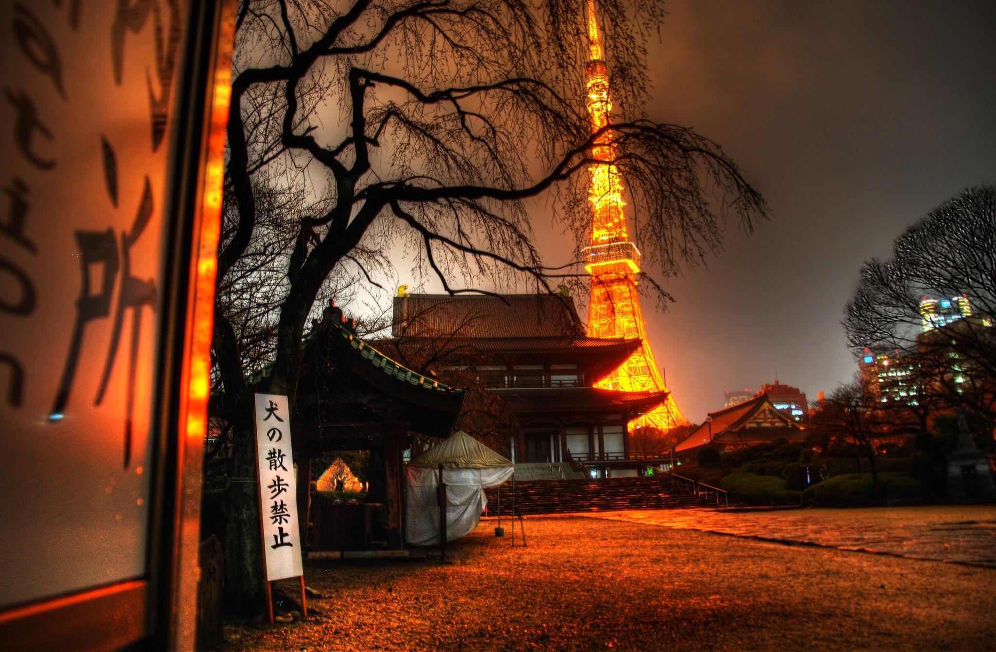 Tokyo Tower desde el templo Zojo-ji