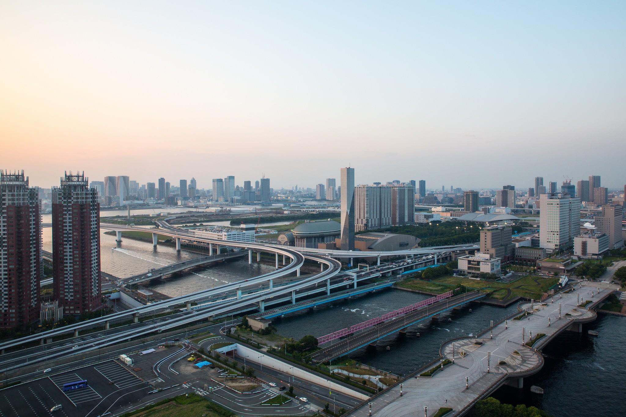 Vistas de Tokyo desde la Noria de Odaiba. De Takashi Nakajima