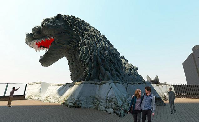 Recreación de la cabeza de Godzilla