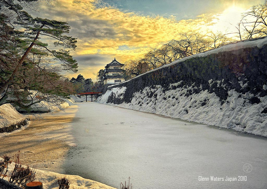 Hirosaki Castle. De Glenn Waters