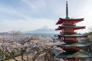 Chureito Tower in Spring. Foto de paceful-jp-scenery