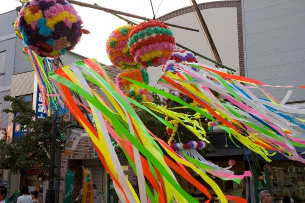 Adornos de Tanabata. Foto de Jennifer Pack