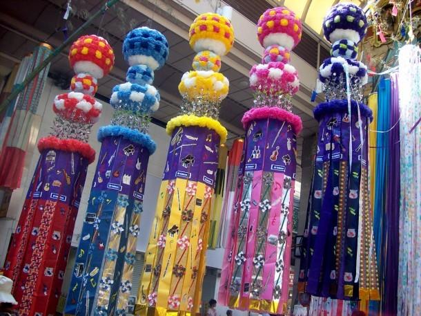 Decoración de Tanabata. Foto de Vanessa Smith