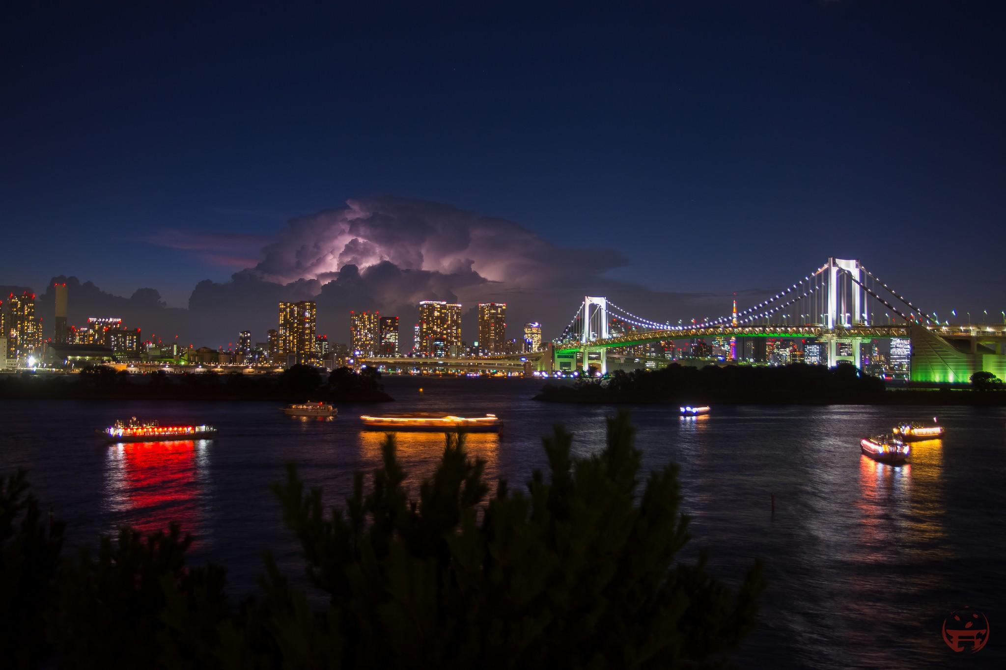 Tormenta en la Bahía de Tokyo.