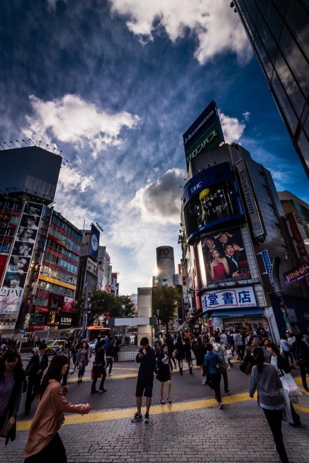 Shibuya clouds. Foto de staf saghiri