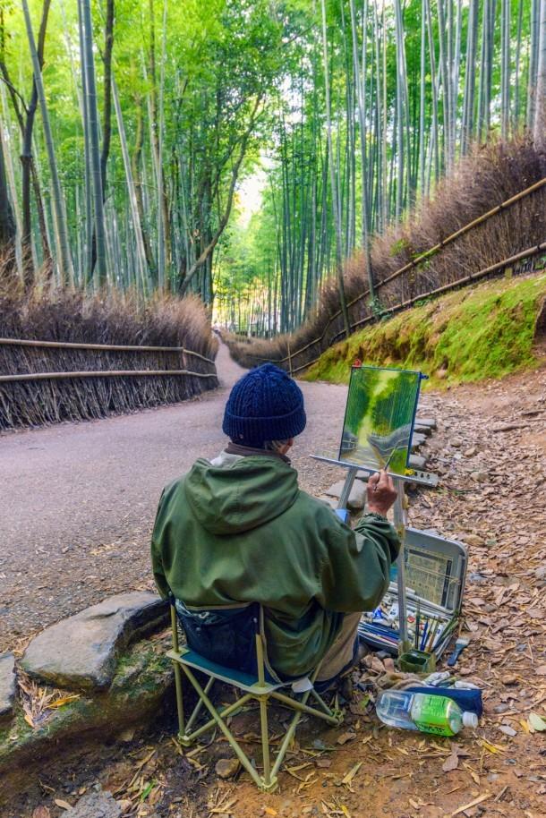 The Arashiyama Painter. Foto de sandi.rais