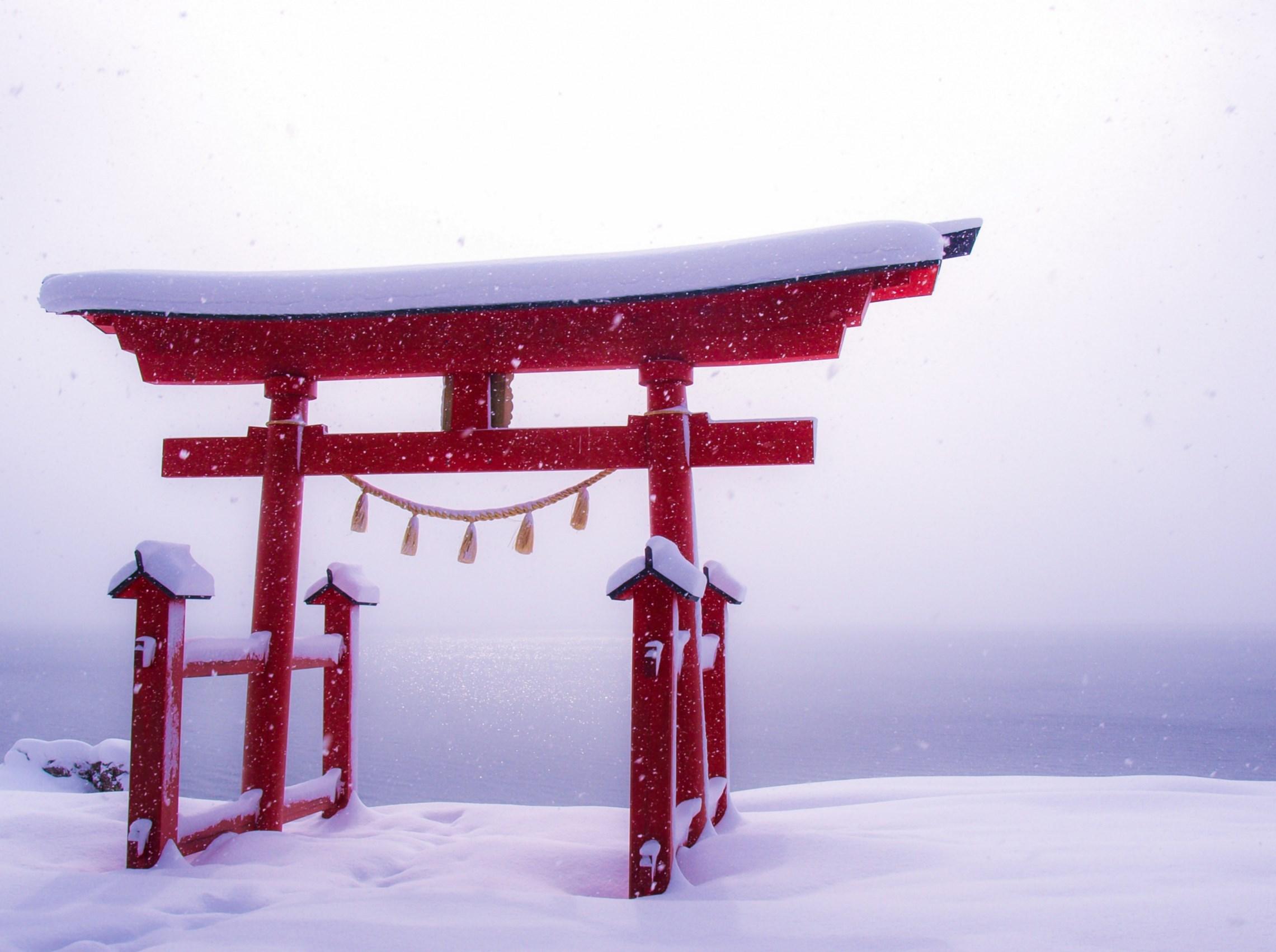 Snowy lakeside. Foto de Syuzo Tsushima
