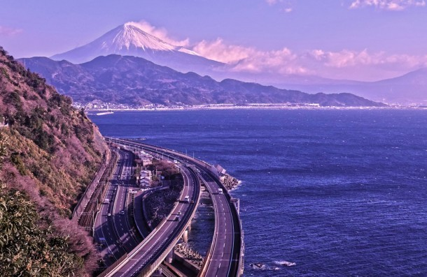 Hiroshige blue - Mt.Fuji. Foto de an ☆.。.:*・