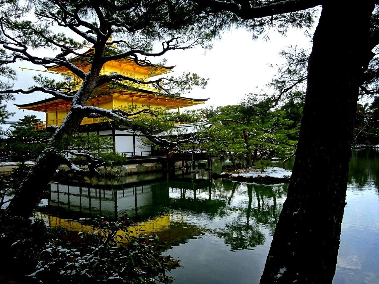 雪の金閣寺. Foto de yukachin58