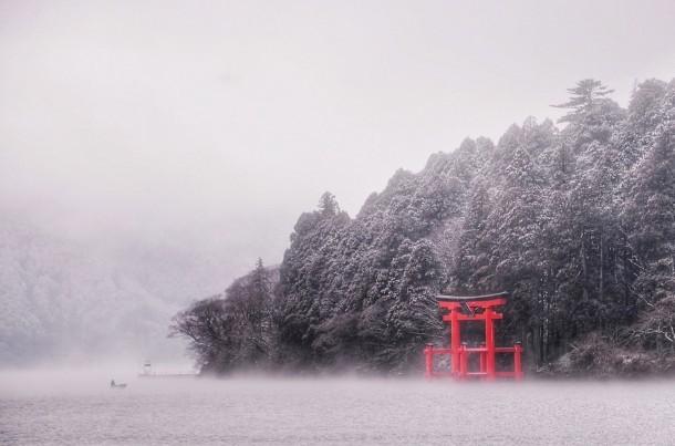 Ashinoko: Lone Fisherman. Foto de philip.graham1