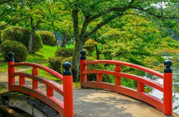 Japanese bridge. Foto de Ekaterina Georgieva