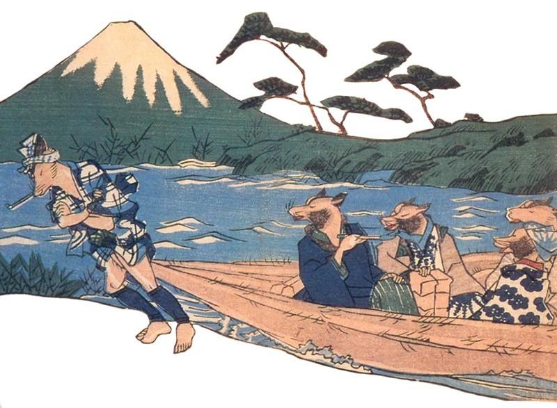tanuki-pulling-boat