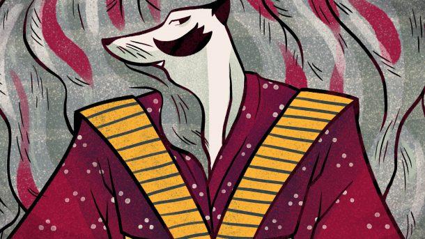 Tanuki, ilustración de Aya Francisco
