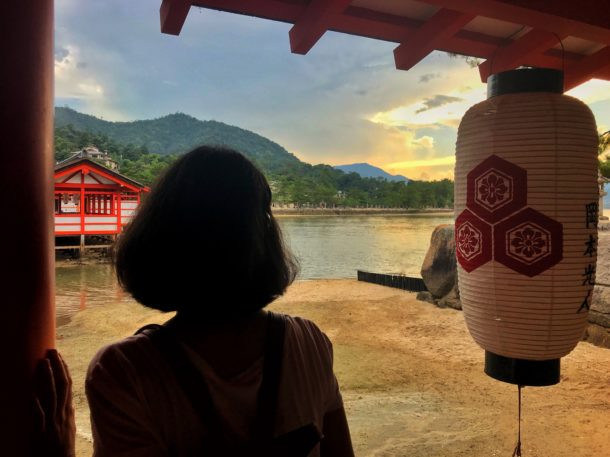 Atardecer junto al Santuario Itsukushima