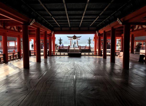 Interior del Santuario Itsukushima