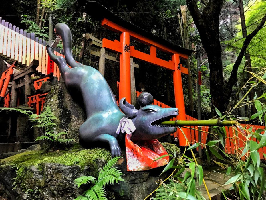Estatua en el Fushimi Inari Taisha