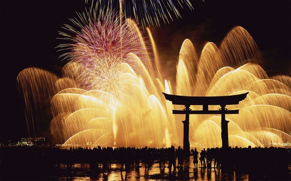Miyajima Fireworks Foto de gaijinpot